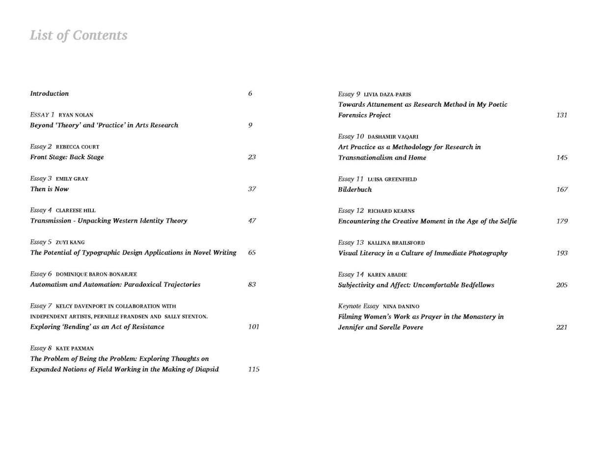 Theorem 2018 Table of Contents